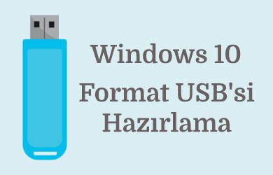 Format için usb nasıl yapılır