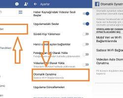 Facebook Oto Video Oynatma Nasıl Kapatılır